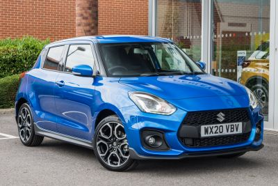 Suzuki Swift 1.4 Sport Hybrid 5 Door Hatchback Hybrid Speedy Blue at Pebley Beach Cirencester