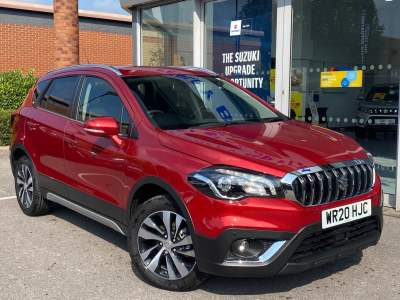 Suzuki S-Cross 1.4 Hybrid SZT 5 Door Hatchback / Fastback Petrol Energetic Red Metallic at Pebley Beach Cirencester