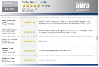 HYUNDAI DEALERS STAR QUALITY - and they use Pebley to illustrate