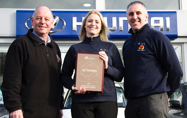Pebley Beach named Hyundai Aftersales Dealer of the Year