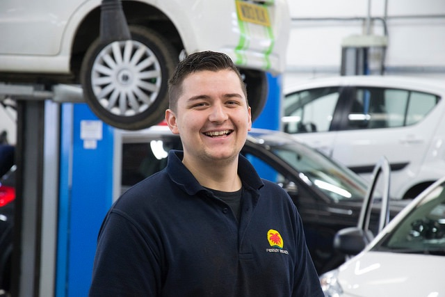 Pebley technician named Motor Vehicle Apprentice of the Year