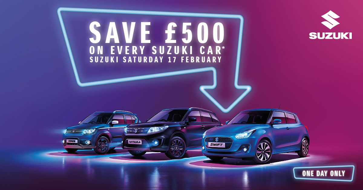 Suzuki Saturday Event on the 17th of February 2018.