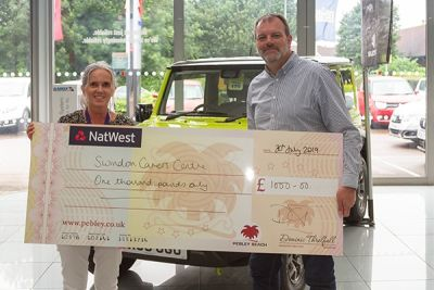 Pebley helps charity walkers hit fundraising target