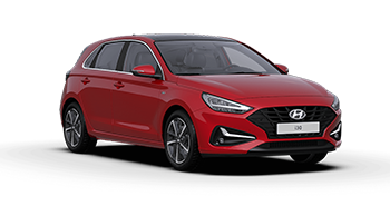 hyundai i30 - Available in Sunset Red